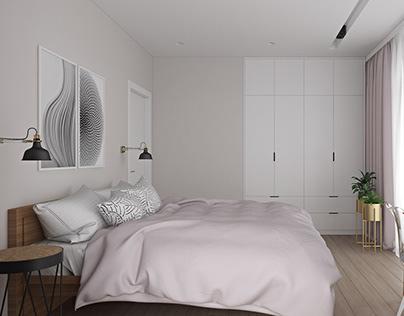 Спальня 15м2. Bedroom 15sq.m