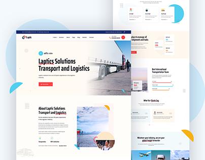 Logistic and Transport website Design