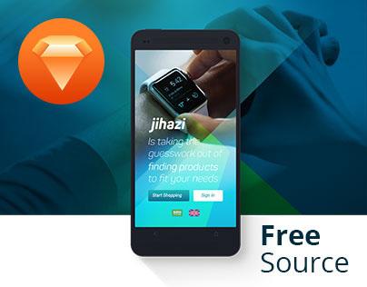 jihazi electronics ecommerce app, Free sketch source