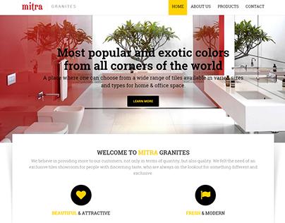 Mitra Granites - Website Project