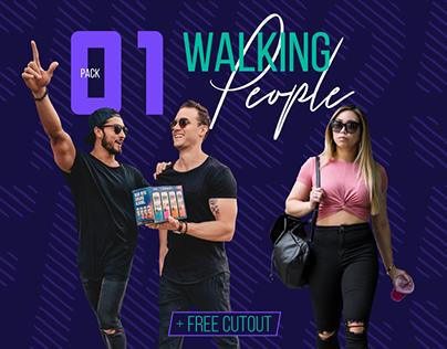 Walking People Cutout