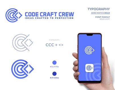Code Craft Crew logo design.