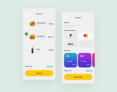 Detail Pages - Food Delivery App
