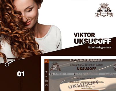 Hairdressing trainer Viktor Uksusoff