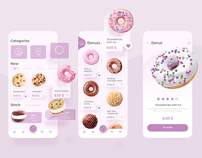 Mobile application for buying donuts