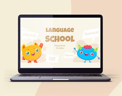 Funny Language School - free Google Slides Template