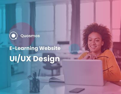 E-Learning website UI/UX Design