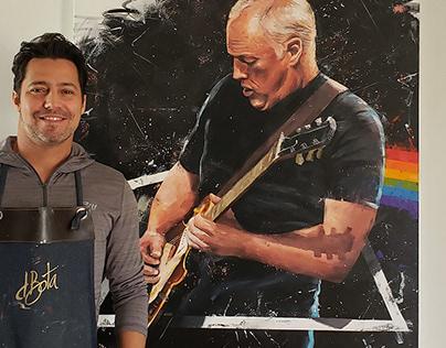 David Gilmour - Pink Floyd / 100x150cm Acrylics