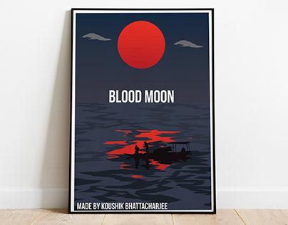 Blood Moon Vector Illustration Design