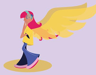 character design-musical girl
