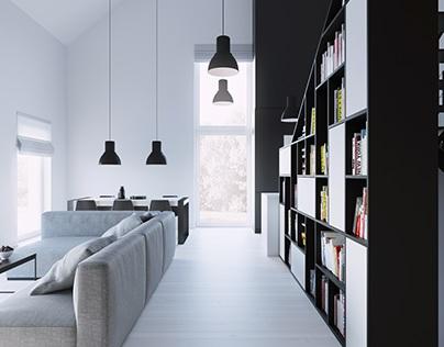 interior black house_lublin_poland