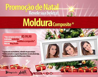 Foto King - Campanha Natal / Cartaz / Cupom / Urna