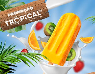 Campanha de promoção Tropical Sorvetes