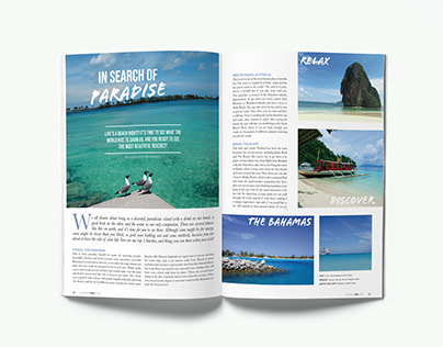 Magazine Layout by Valeria Valdeiglesias