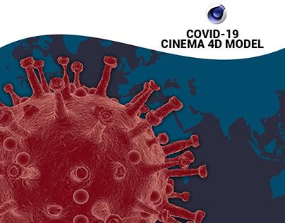 COVID Cinema 4D Model