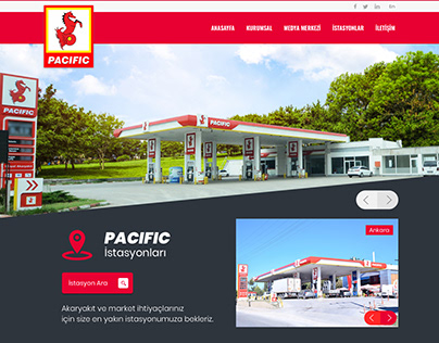 Oil Company Corporate Web Design - UI / UX