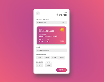 Daily UI 002 :: Credit Card Checkout