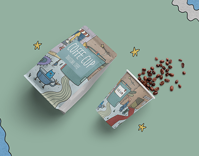 Universe in a coffee cup: Packaging design.