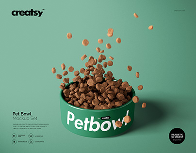 Pet Bowl Mockup Set