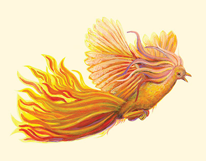 Phoenix = Feniks / Illustrated poetry book of haiku