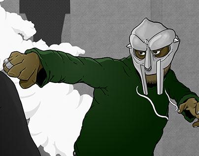 MF DOOM Mock Comic Illustration