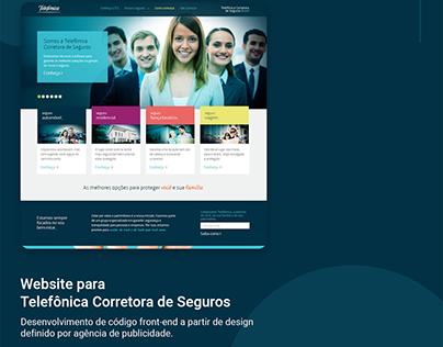 Website para Telefônica Corretora de Seguros