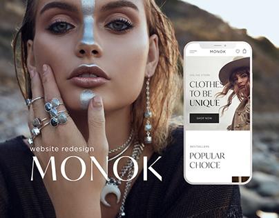 MONOK website concept