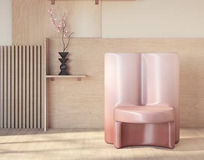 Molded Gradient Chair