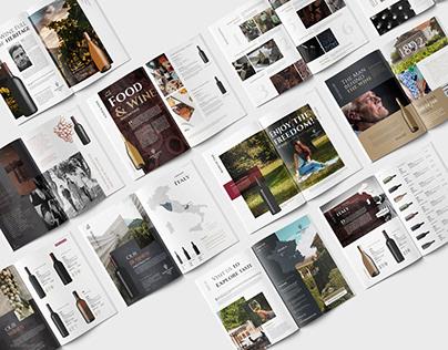 Wine Catalog Brochure