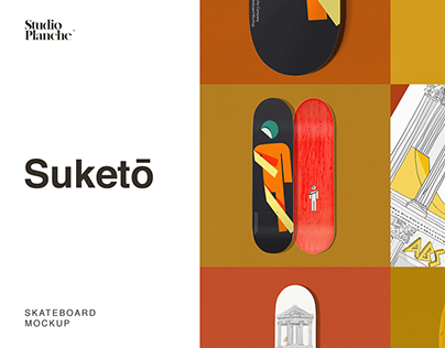 Suketō — Skateboard Mockup