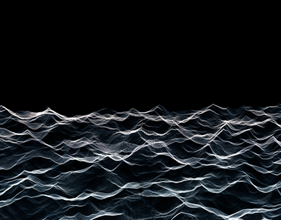 Abstract Waves 3 -Black and White- / HD, 4K