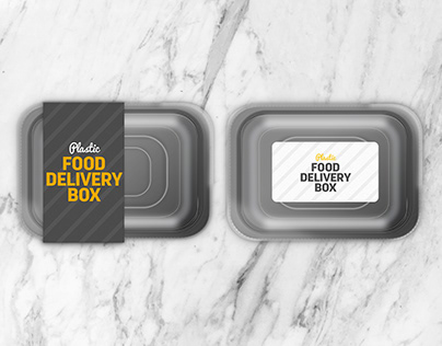 Disposable Food Takeaway Delivery Box Mockup
