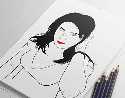 Line Art Vector Portrait