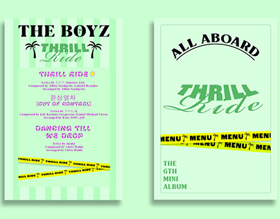 THE BOYZ : THRILL-ING mini album redesign