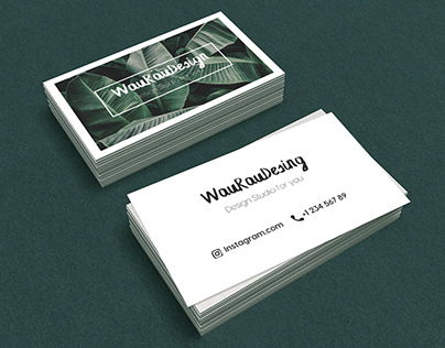 Canva Business Card Template Minimalism Tropic Buy 3$