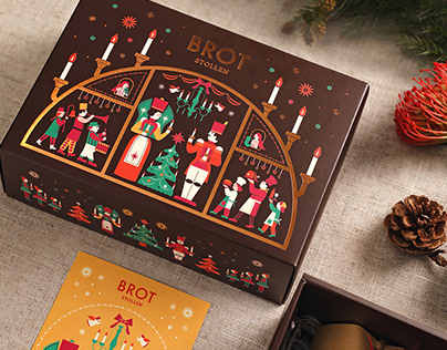 Brot Christmas Stollen Packaging