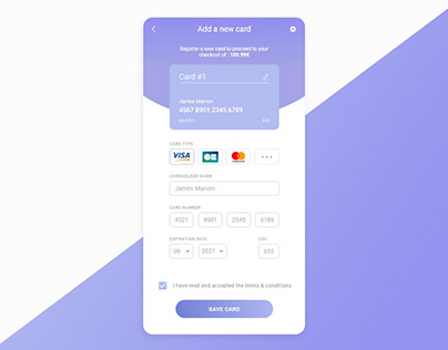 Card Checkout - UI Design