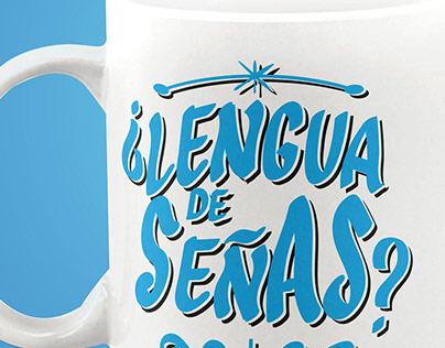 Tazón Abecedario Señas chilena