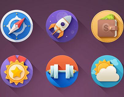 Impressive icon's set