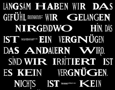 Various B/W Posterdesigns
