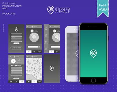 App Design Presantation / FREE PSD+MOCKUPS