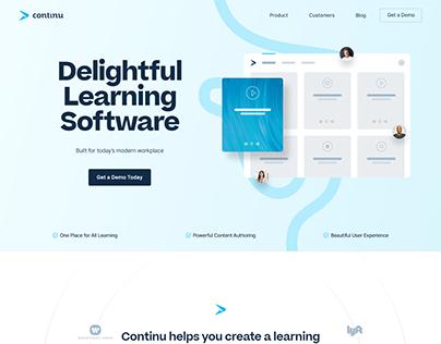 Continu - Tech Website