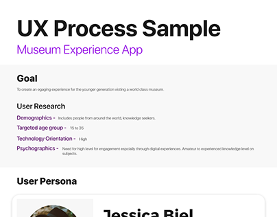 Museum Experience App UX