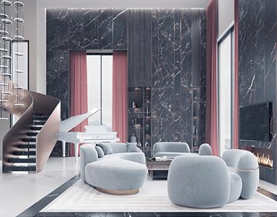 3D visualisation modern loft