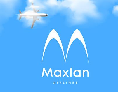 Maxlan Airline Logo Branding