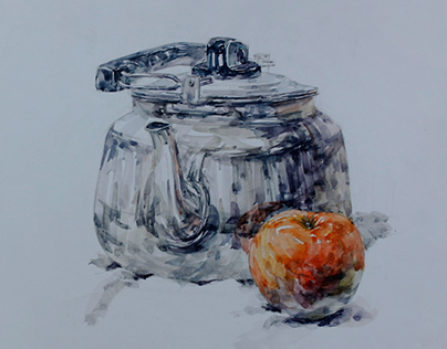 Pot with Apple