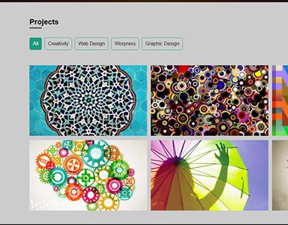 Creativity Webpage Desing