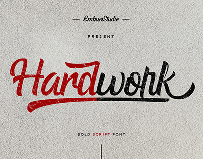 HARDWORK - BOLD SCRIPT FREE FONT
