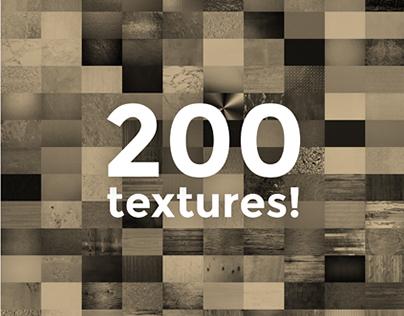 200 Textures Bundle