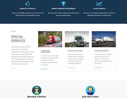 Professional website design for Shipwithlive Global log